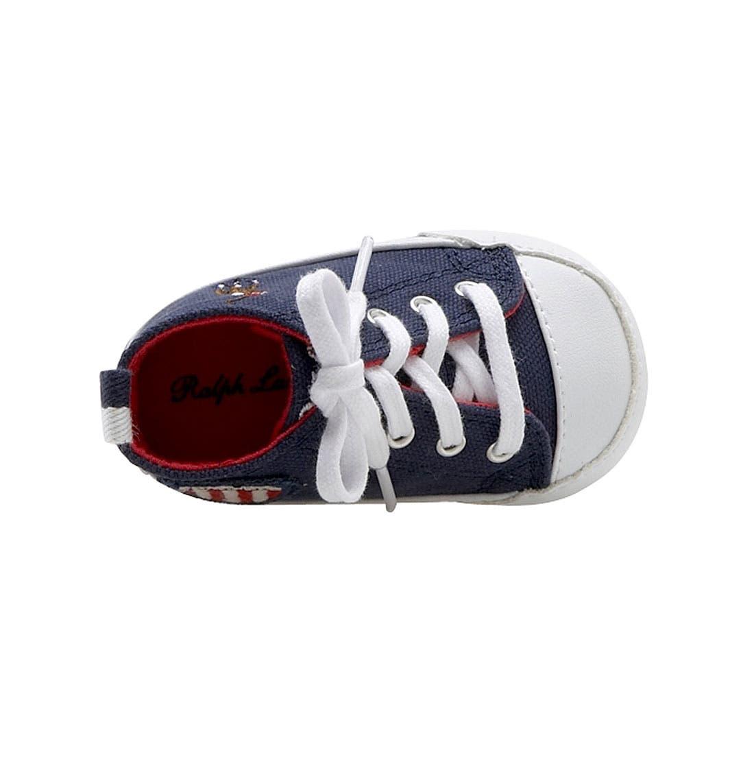 Alternate Image 3  - Ralph Lauren Layette 'Bal Harbour Hi' Sneaker (Baby)