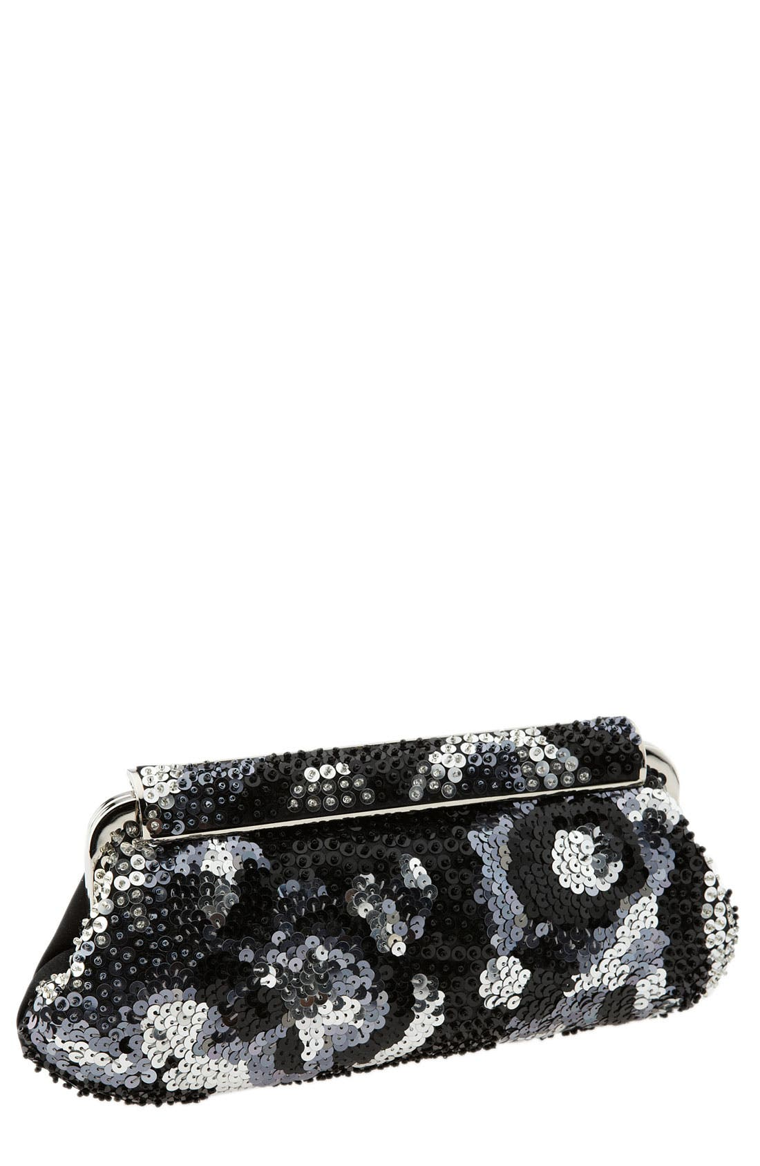 Main Image - Jessica McClintock Patterned Sequin Clutch