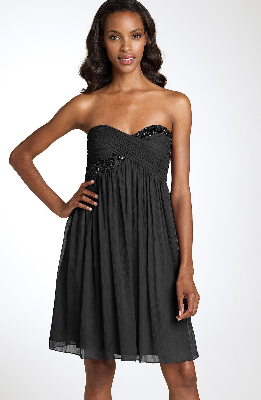 Main Image - Maggy London Strapless Bead Bodice Dress