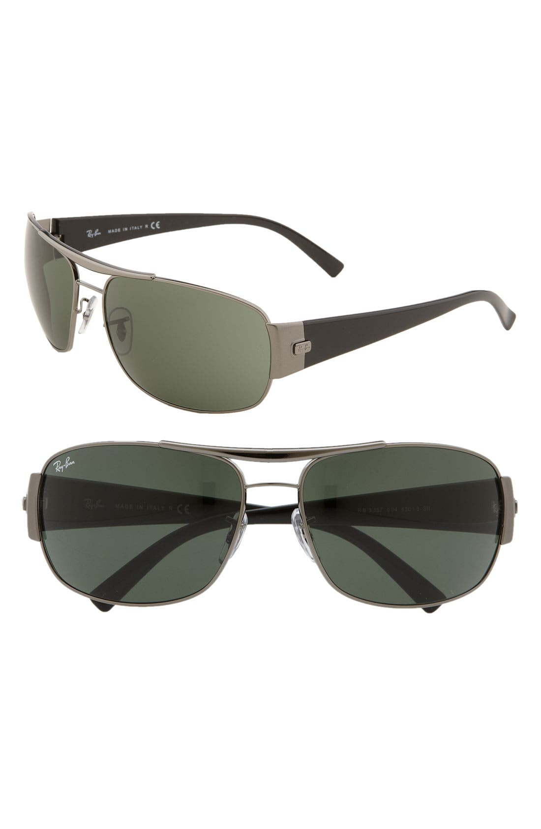 Alternate Image 1 Selected - Ray-Ban Square Wrap 63mm Aviator Sunglasses