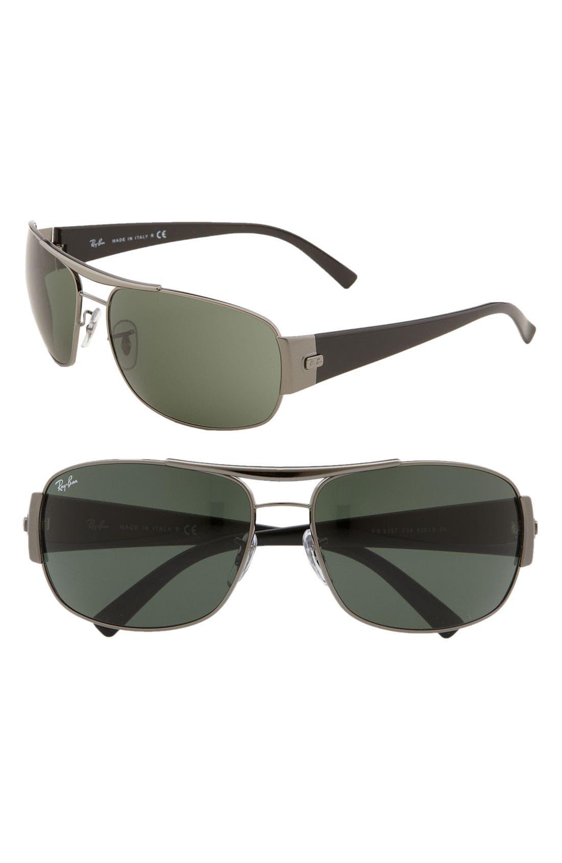 Alternate Image 1 Selected - Ray-Ban Square Wrap 63mm Aviator Sunglasses