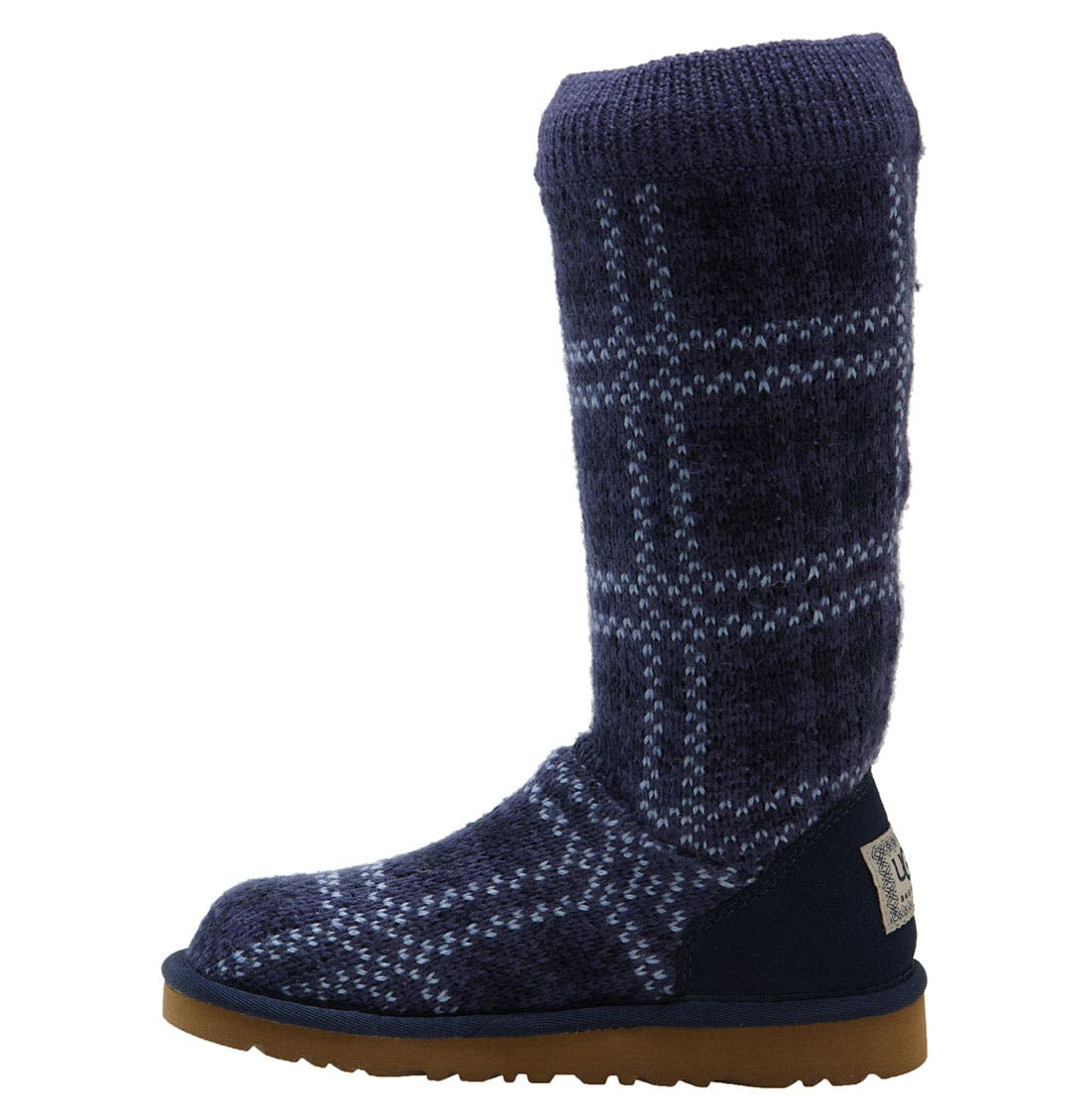 Alternate Image 2  - UGG® Australia Plaid Knit Boot (Toddler, Little Kid & Big Kid)