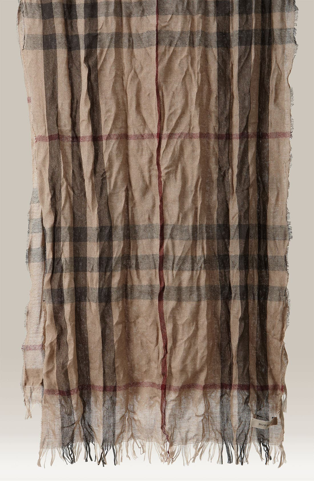 Main Image - Burberry Giant Check Crinkled Scarf