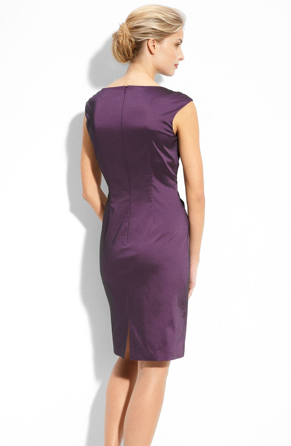 Alternate Image 2  - Eliza J Beaded Stretch Taffeta Sheath Dress