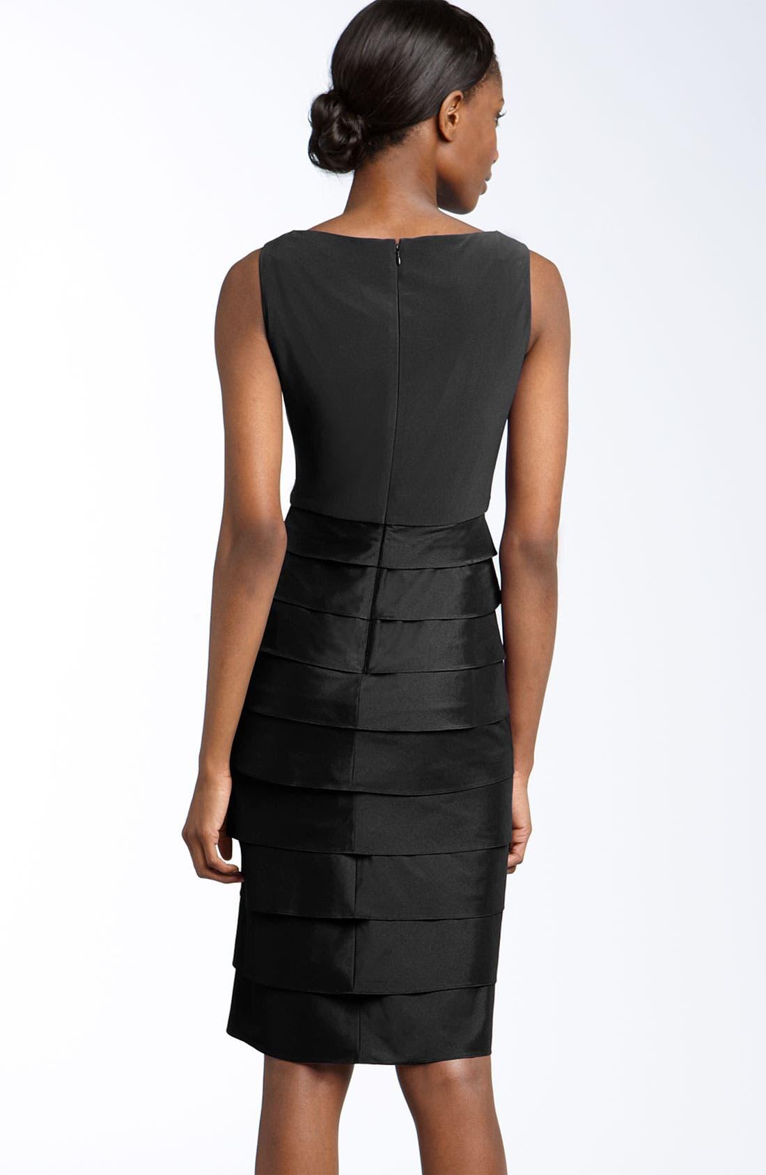 Alternate Image 2  - Adrianna Papell Jersey & Taffeta Sheath Dress