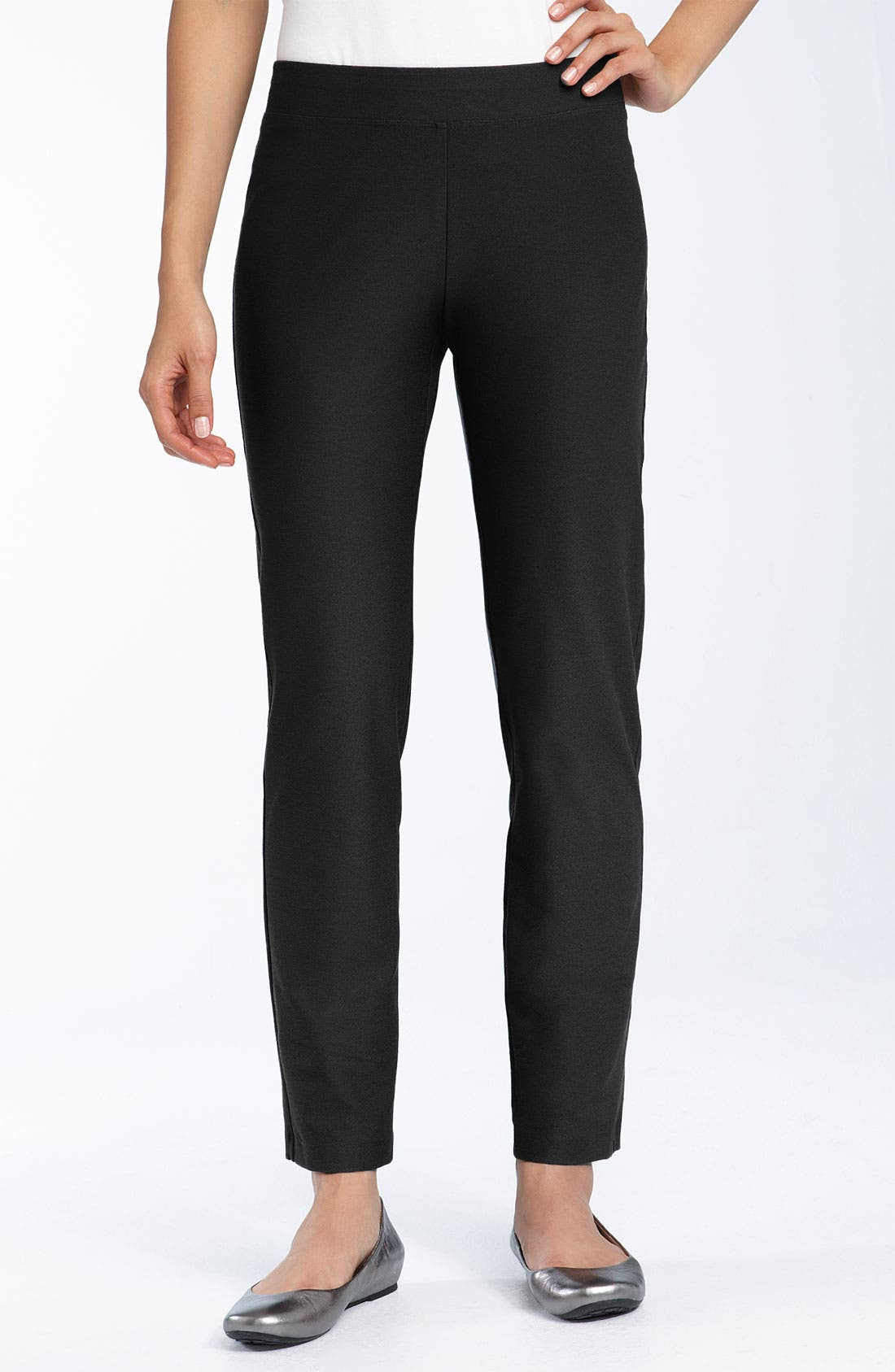 Alternate Image 1 Selected - Eileen Fisher Crepe Ankle Pants (Petite)
