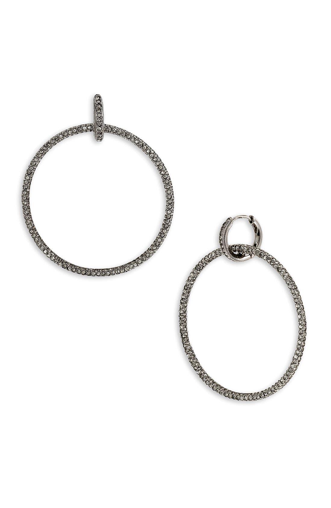 Main Image - Nadri Oversized Pavé Forward Hoop Earrings