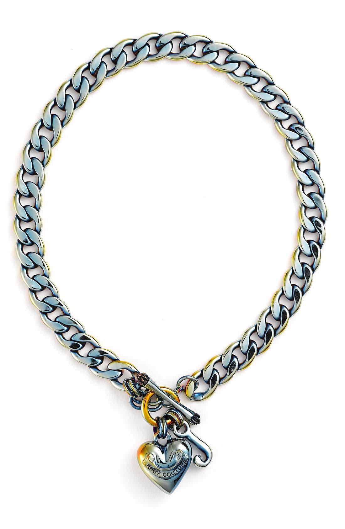 Main Image - Juicy Couture Pavé Starter Charm Necklace