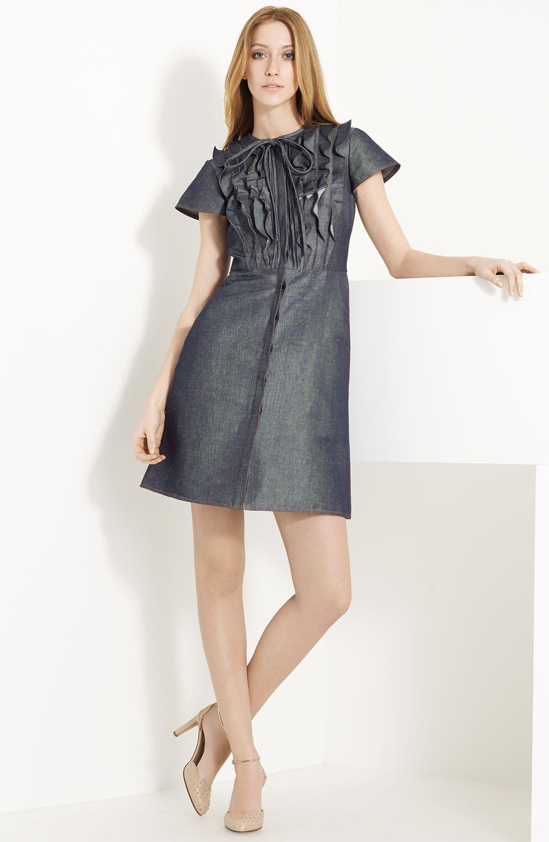Alternate Image 1 Selected - Valentino Ruffle Front Dress