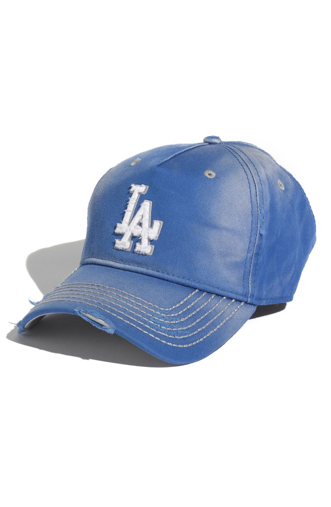 Main Image - Red Jacket 'Los Angeles Dodgers' Distressed Cap