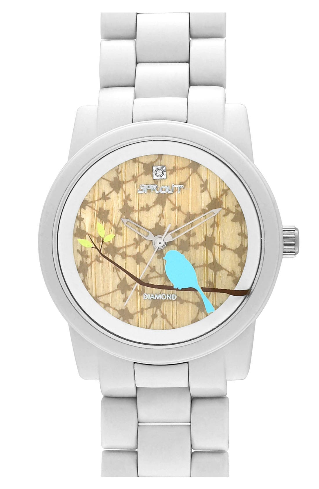 Alternate Image 1 Selected - SPROUT™ Watches Print Dial Bracelet Watch, 38mm