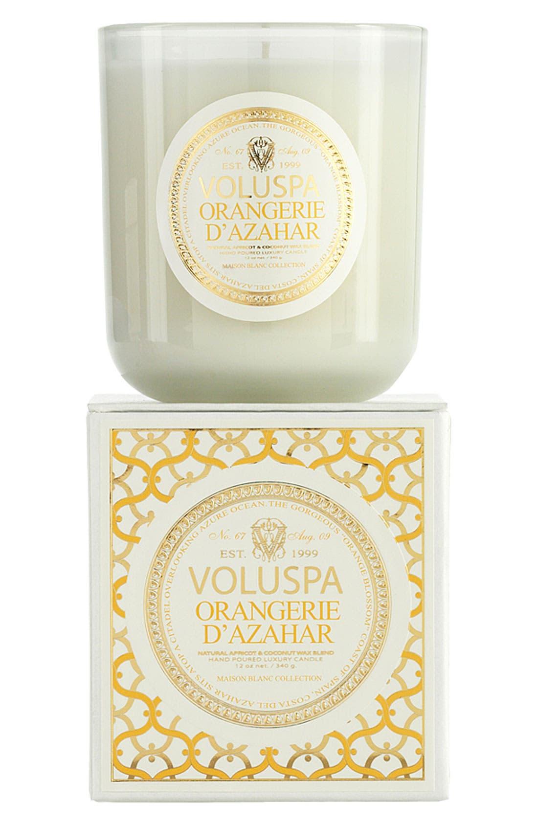 Alternate Image 1 Selected - Voluspa 'Maison Blanc - Orangerie d'Azahar' Boxed Candle