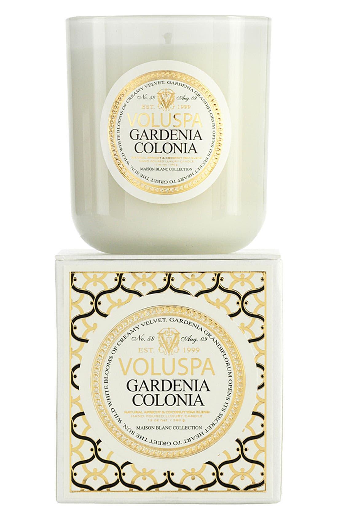 Main Image - Voluspa 'Maison Blanc - Gardenia Colonia' Boxed Candle