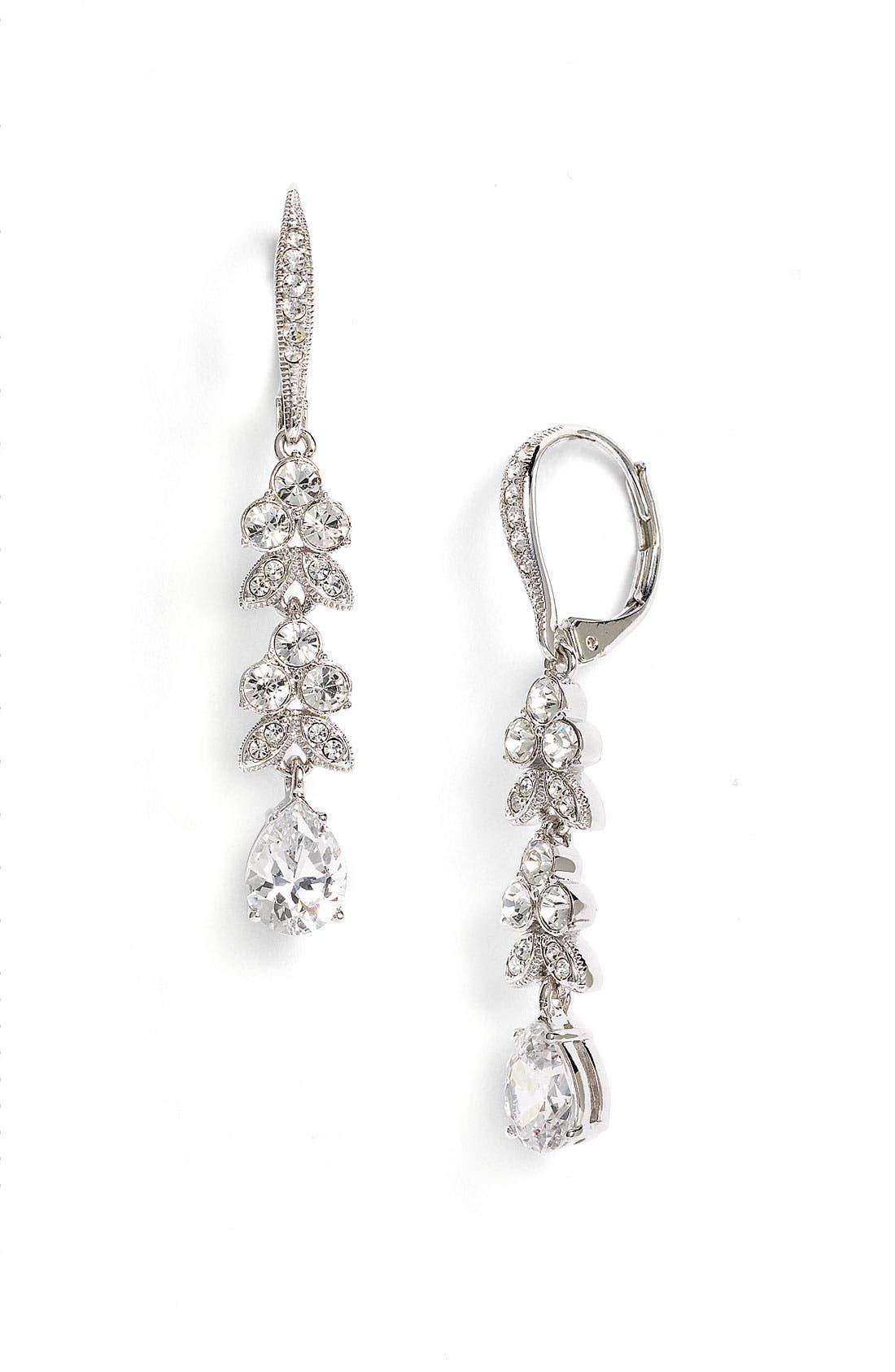 Alternate Image 1 Selected - Nadri Leaf & Pear Drop Earrings