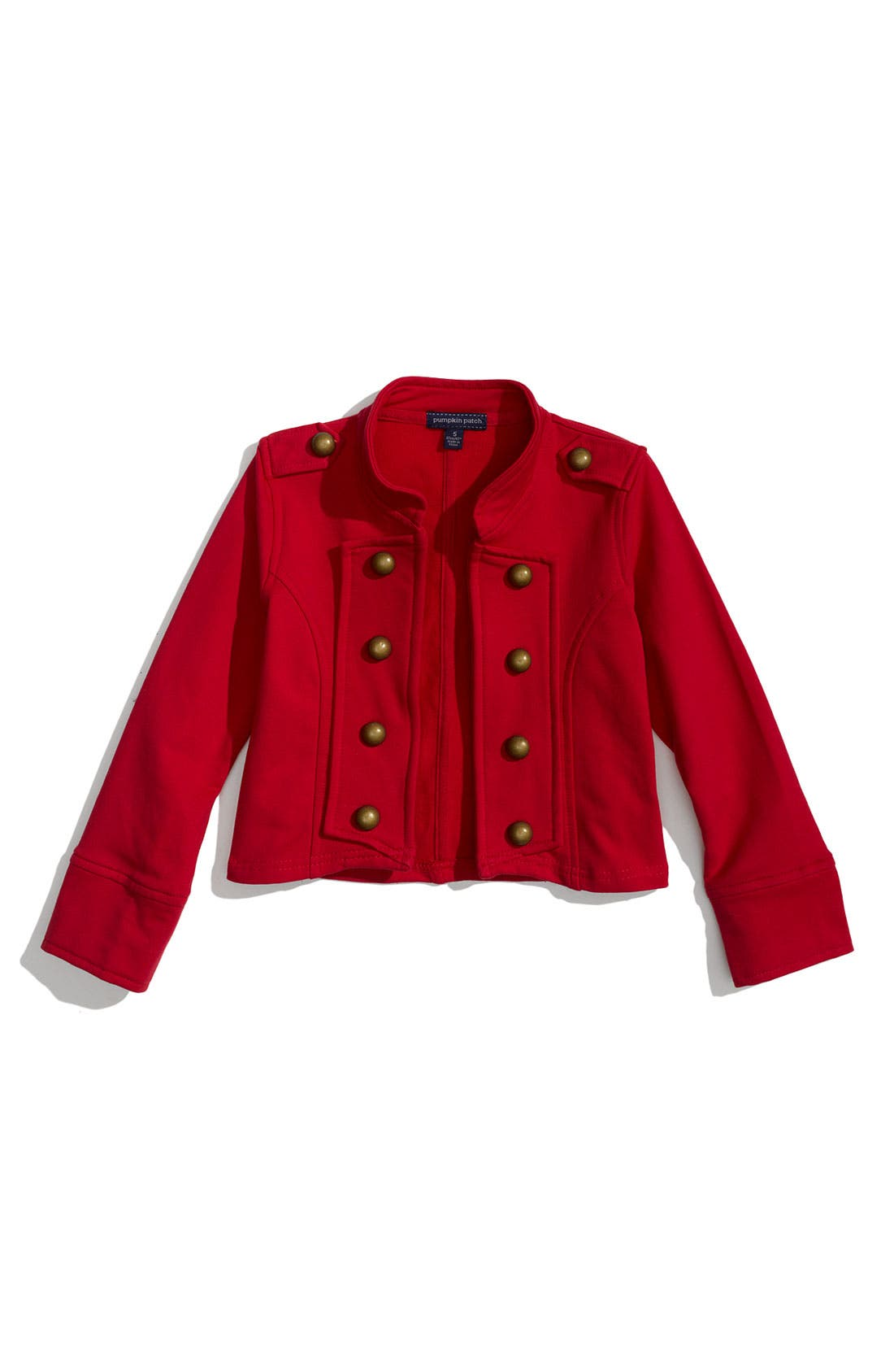 Alternate Image 1 Selected - Pumpkin Patch Stretch Cotton Military Jacket (Little Girls)