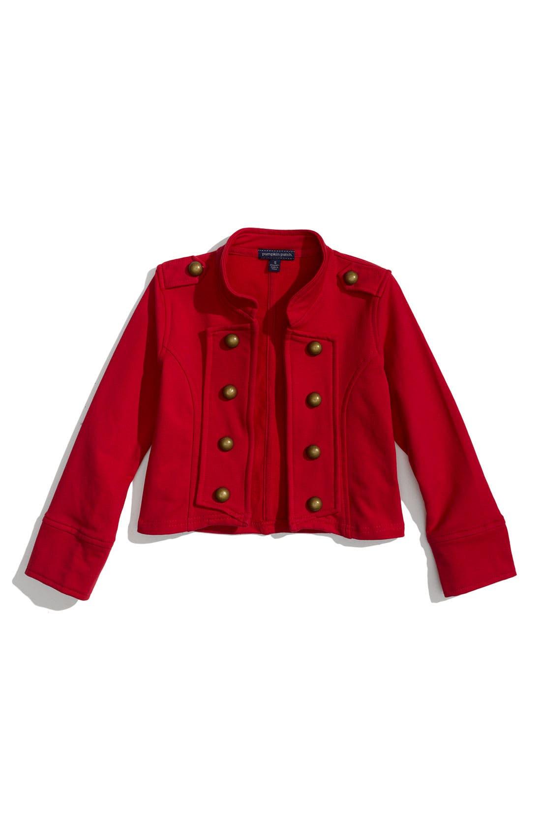 Main Image - Pumpkin Patch Stretch Cotton Military Jacket (Little Girls)