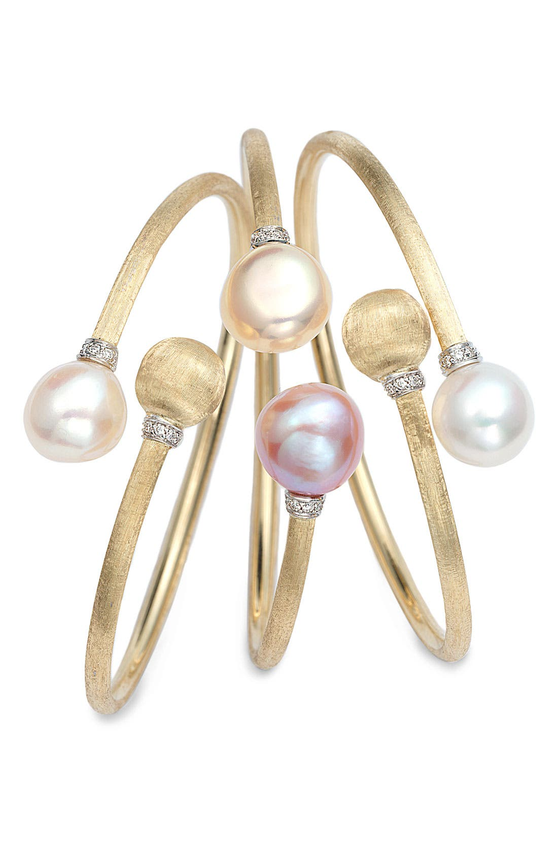 Alternate Image 2  - Marco Bicego 'Africa' Pearl & Diamond Bangle