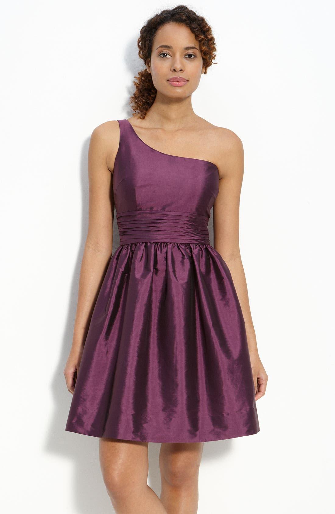 Alternate Image 1 Selected - Eliza J One Shoulder Taffeta Dress