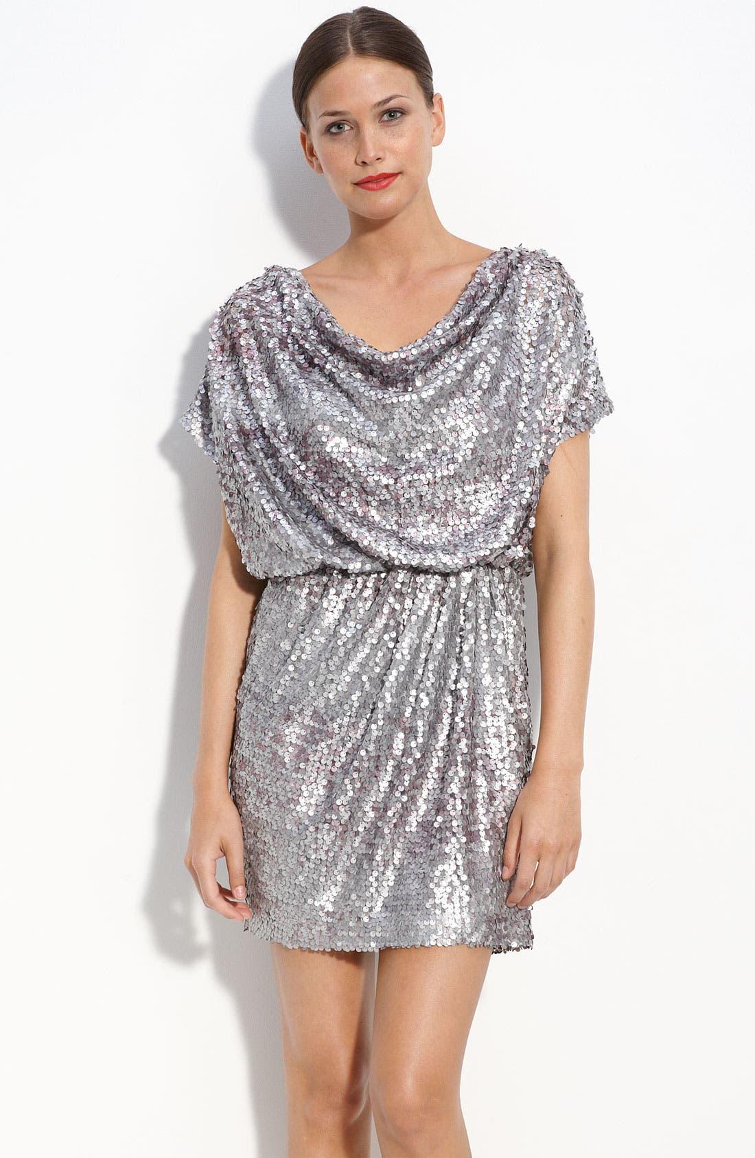 Alternate Image 1 Selected - Aidan by Aidan Mattox Drape Neck Sequin Dress