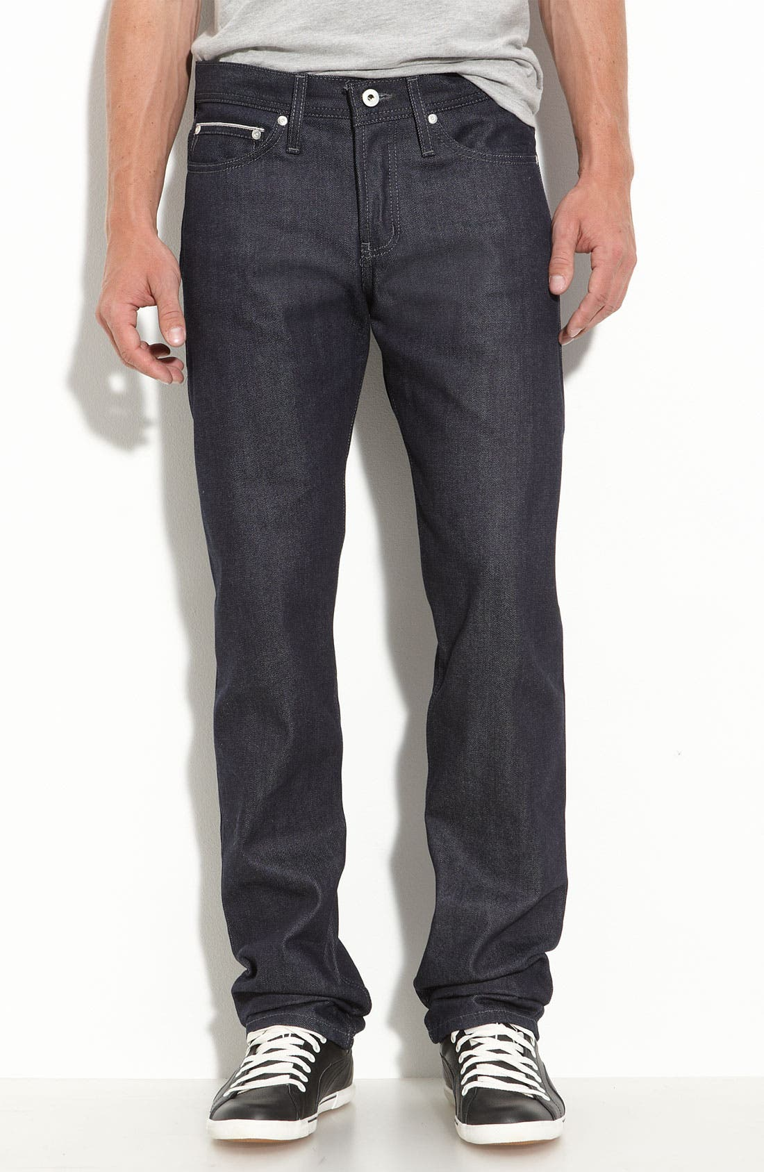 Alternate Image 1 Selected - Naked & Famous Denim 'Weird Guy' Slim Fit Selvedge Jeans (Indigo)