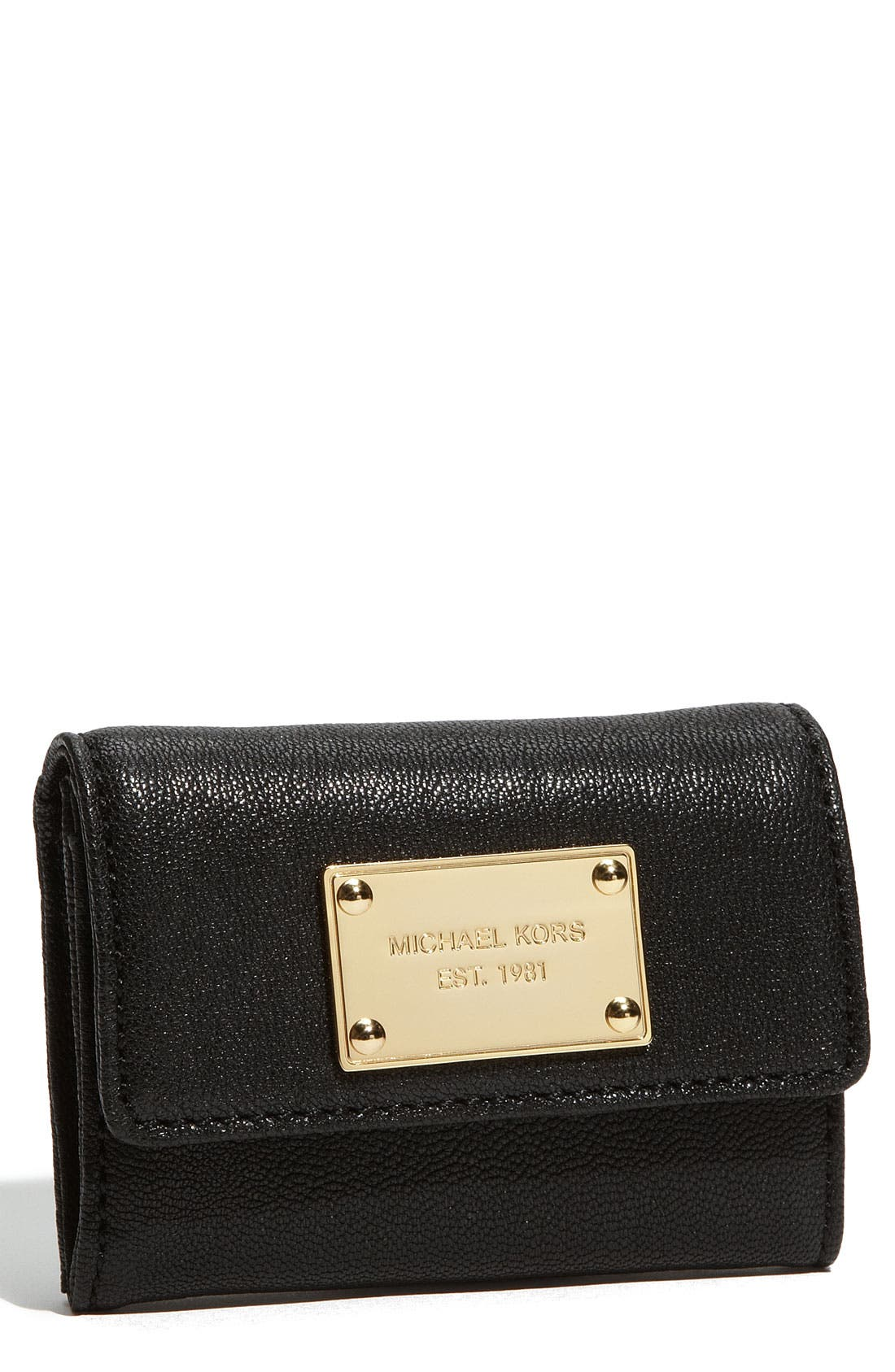 Alternate Image 1 Selected - MICHAEL Michael Kors 'Jet Set' Leather Wallet