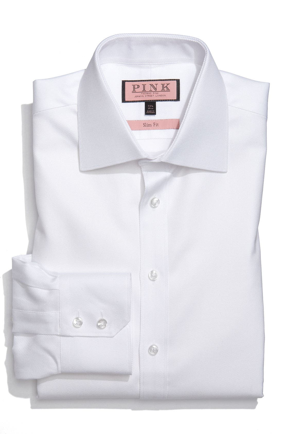 Main Image - Thomas Pink Slim Fit Dress Shirt