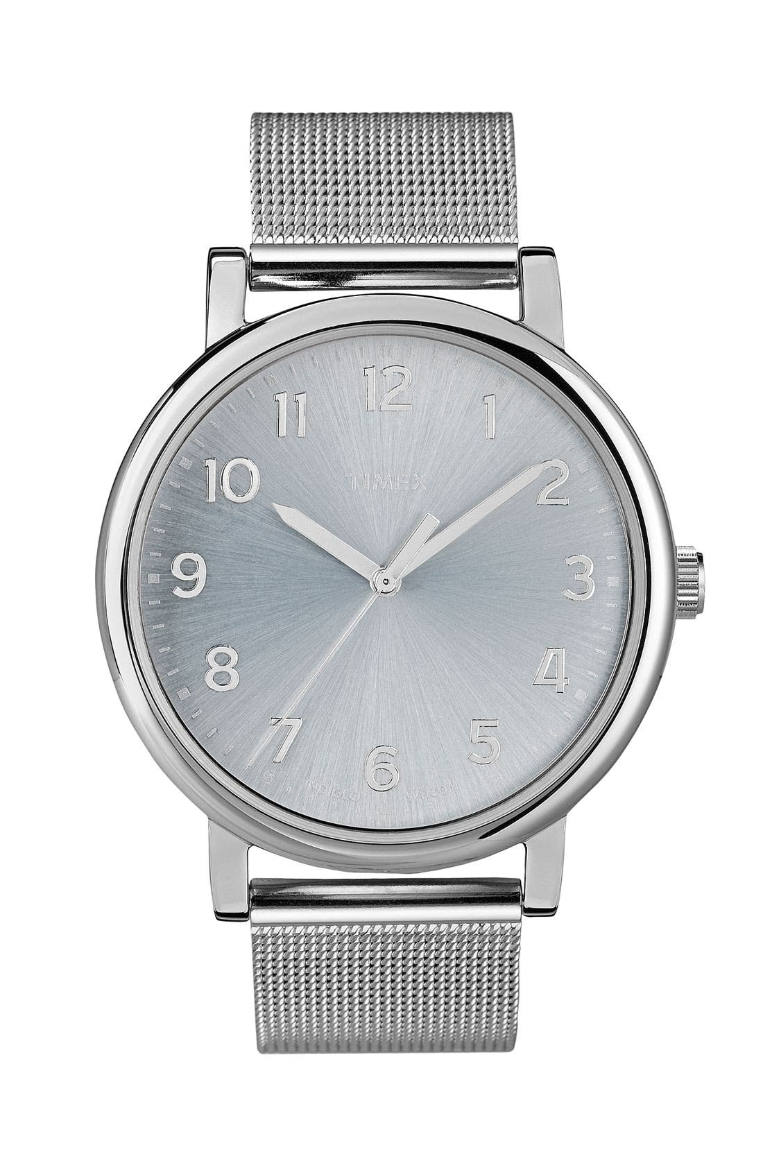 Alternate Image 1 Selected - Timex® 'Easy Reader' Mesh Bracelet Watch, 38mm