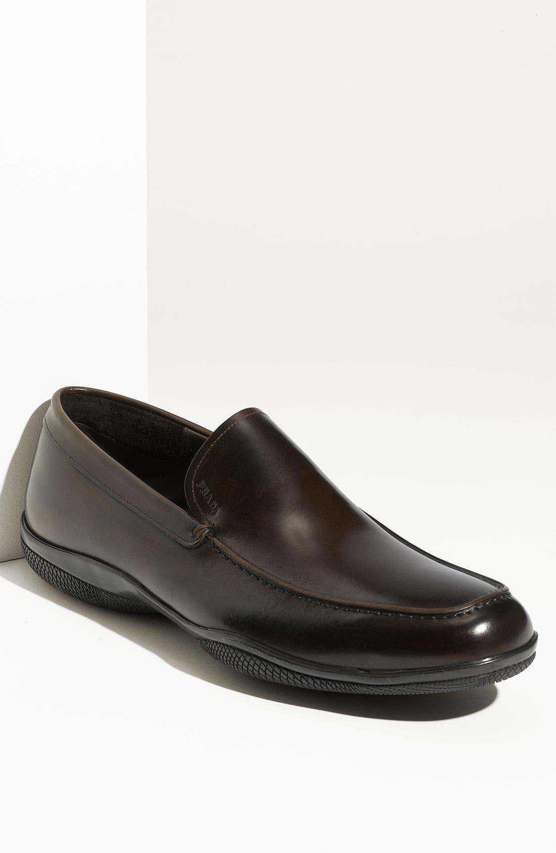 Alternate Image 1 Selected - Prada Leather Slip-On (Men)