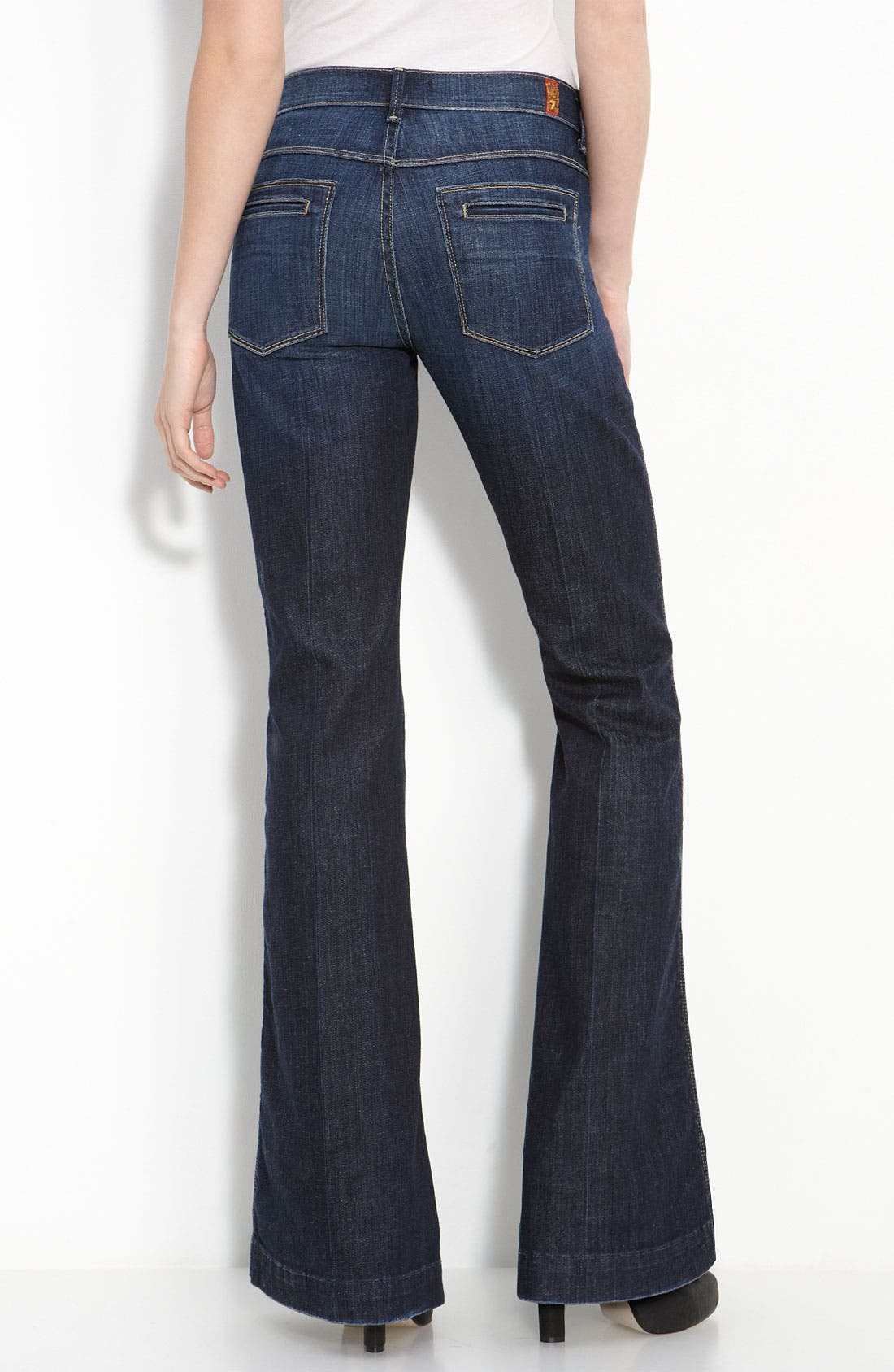 Alternate Image 2  - 7 For All Mankind® 'Bianca' Flare Leg Stretch Jeans (Los Angeles Dark Wash)