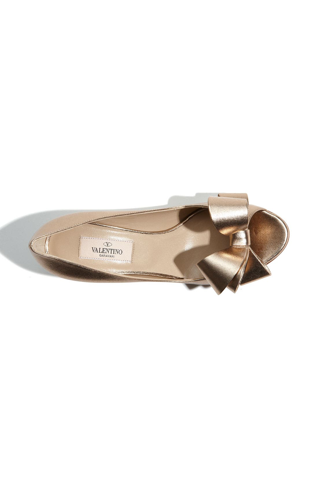 Alternate Image 3  - Valentino Metallic Nappa Couture Bow Pump