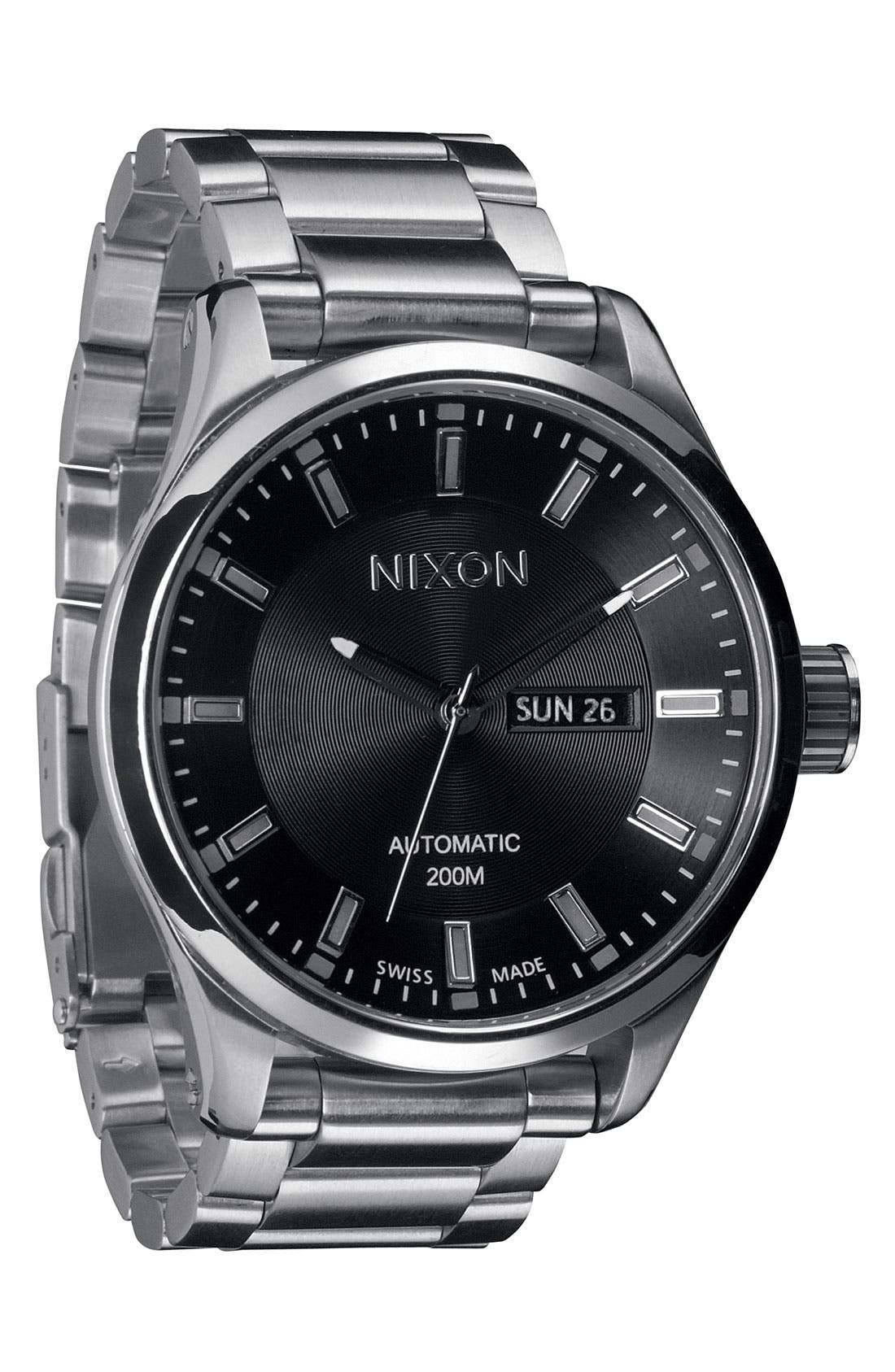 Alternate Image 1 Selected - Nixon 'The Automatic II' Bracelet Watch