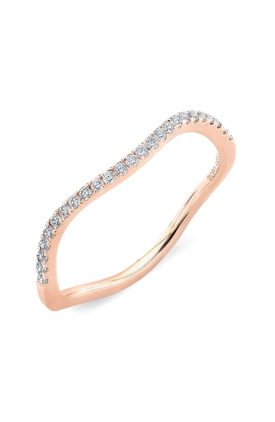 Main Image - Bony Levy Stackable Wavy Diamond Ring (Nordstrom Exclusive)