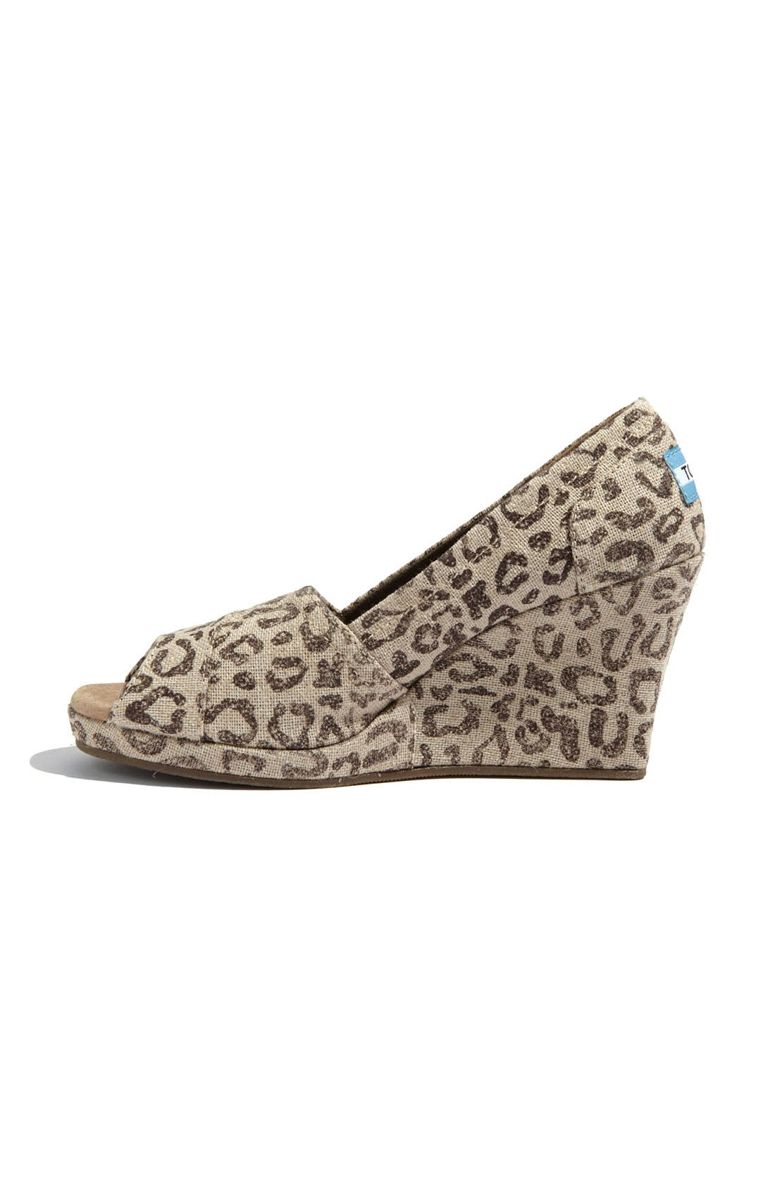 Alternate Image 2  - TOMS 'Snow Leopard' Burlap Wedge