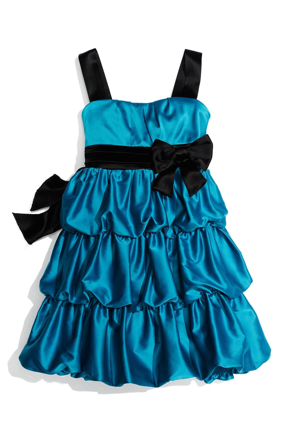 Main Image - Roxette Puff Tier Dress (Big Girls)