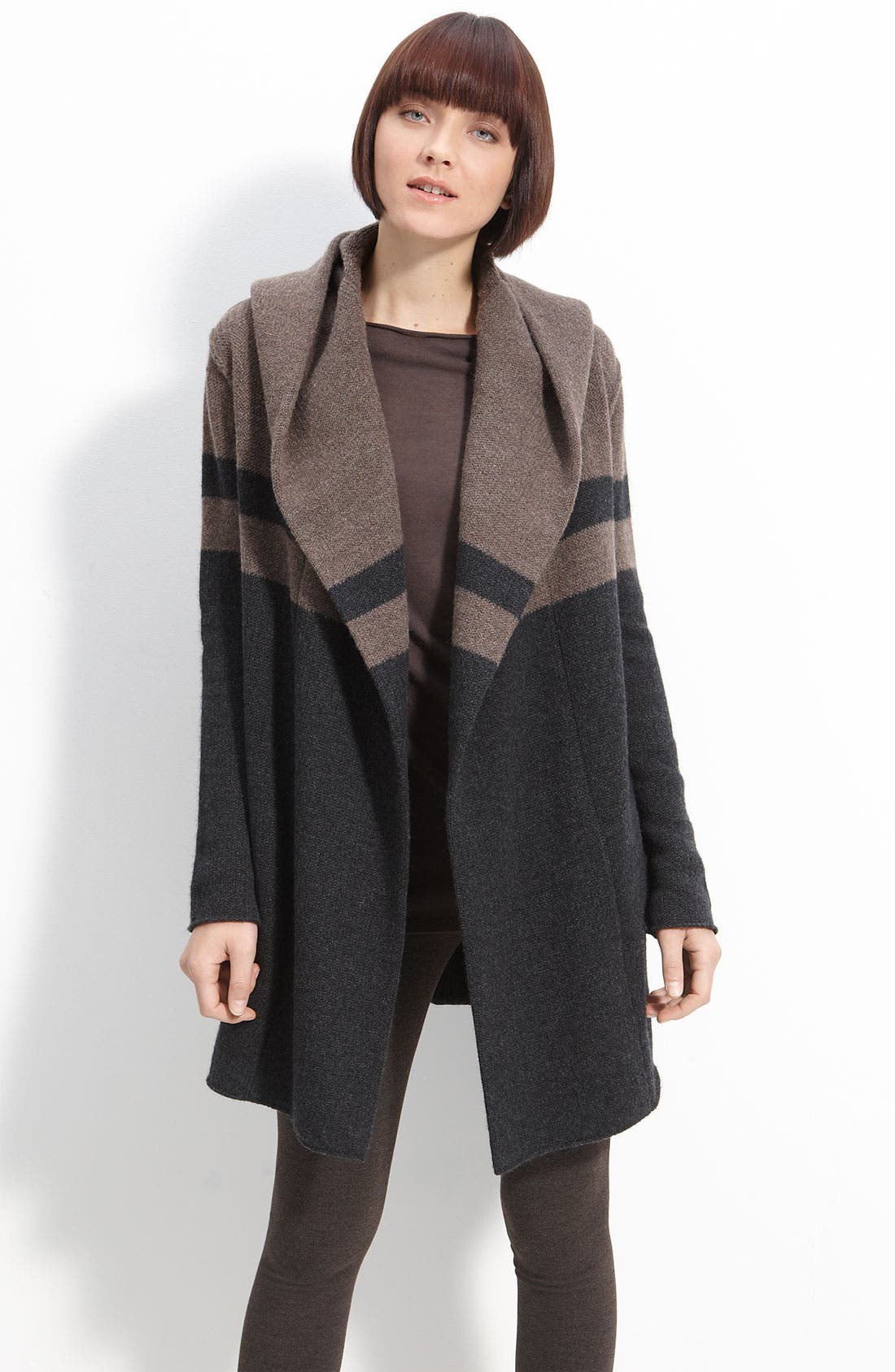 Main Image - Vince Colorblock Hooded Blanket Coat
