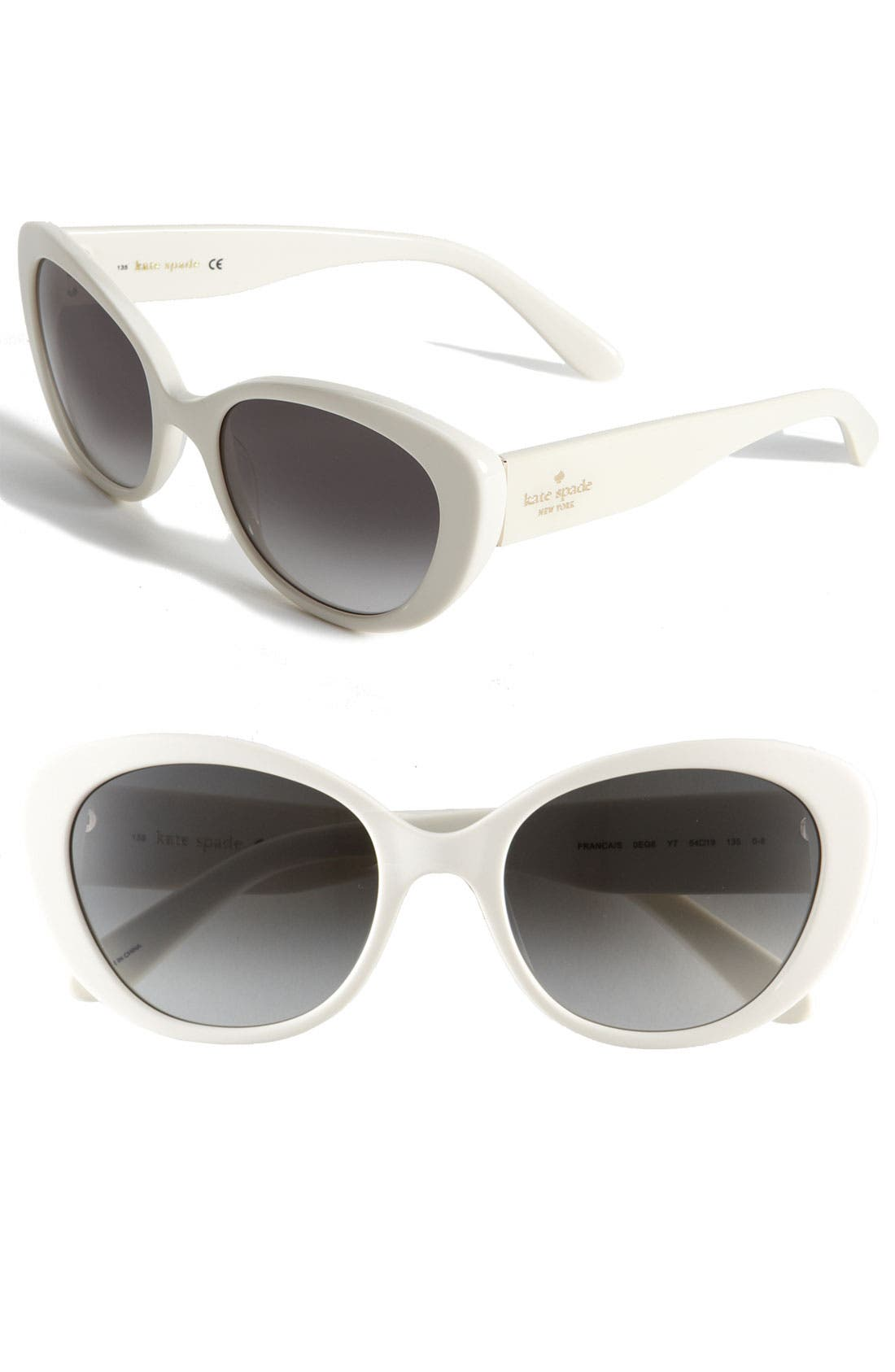 Alternate Image 1 Selected - kate spade new york 'franca' 54mm cat's eye sunglasses