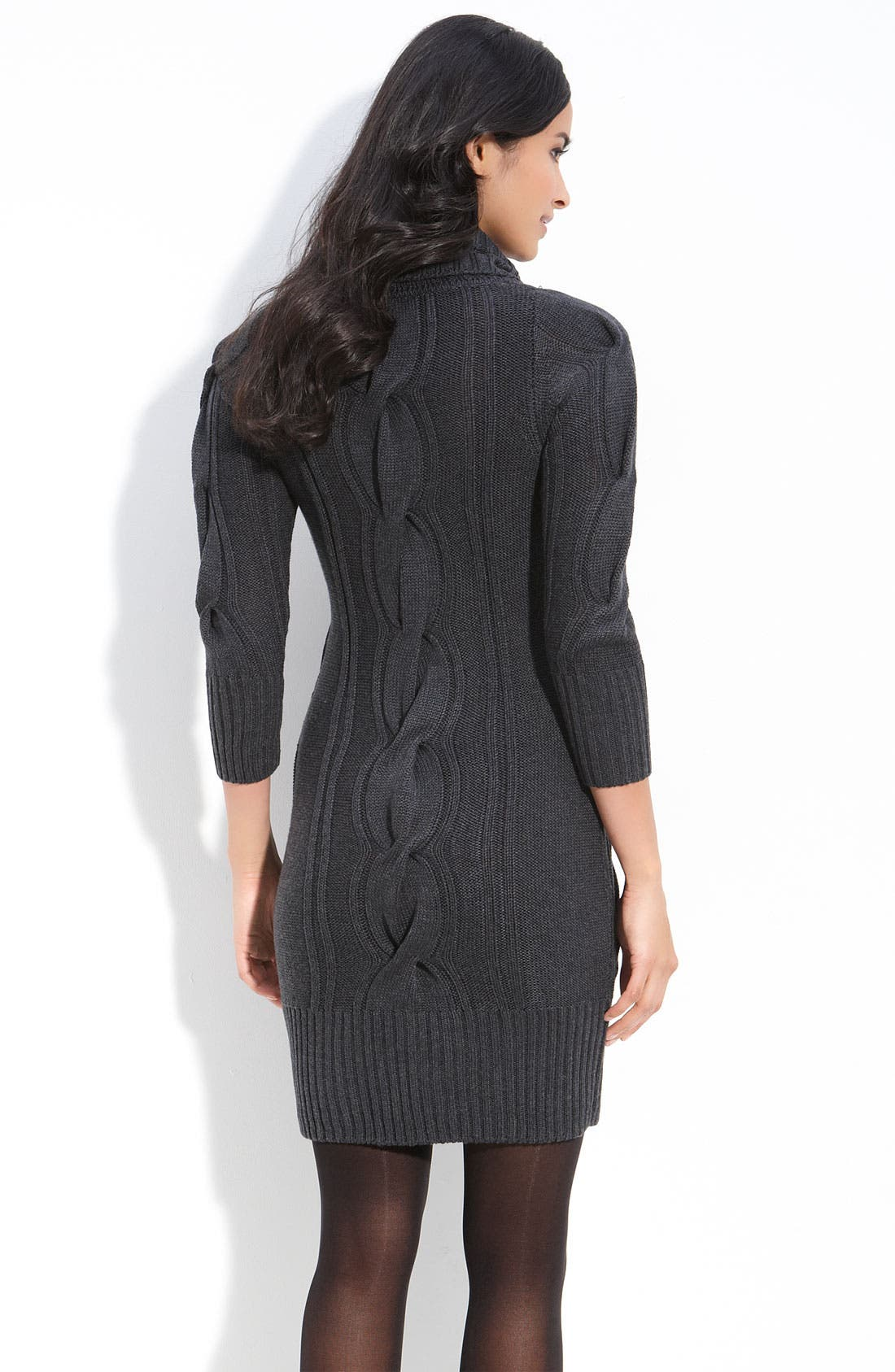 Alternate Image 2  - Calvin Klein Cowl Neck Sweater Dress