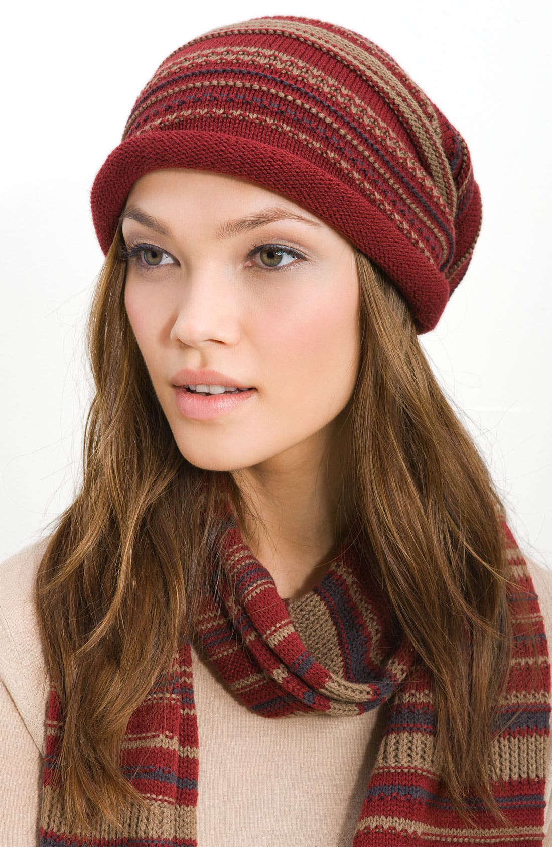 Alternate Image 1 Selected - Tarnish 'Folk Knit' Slouchy Cap