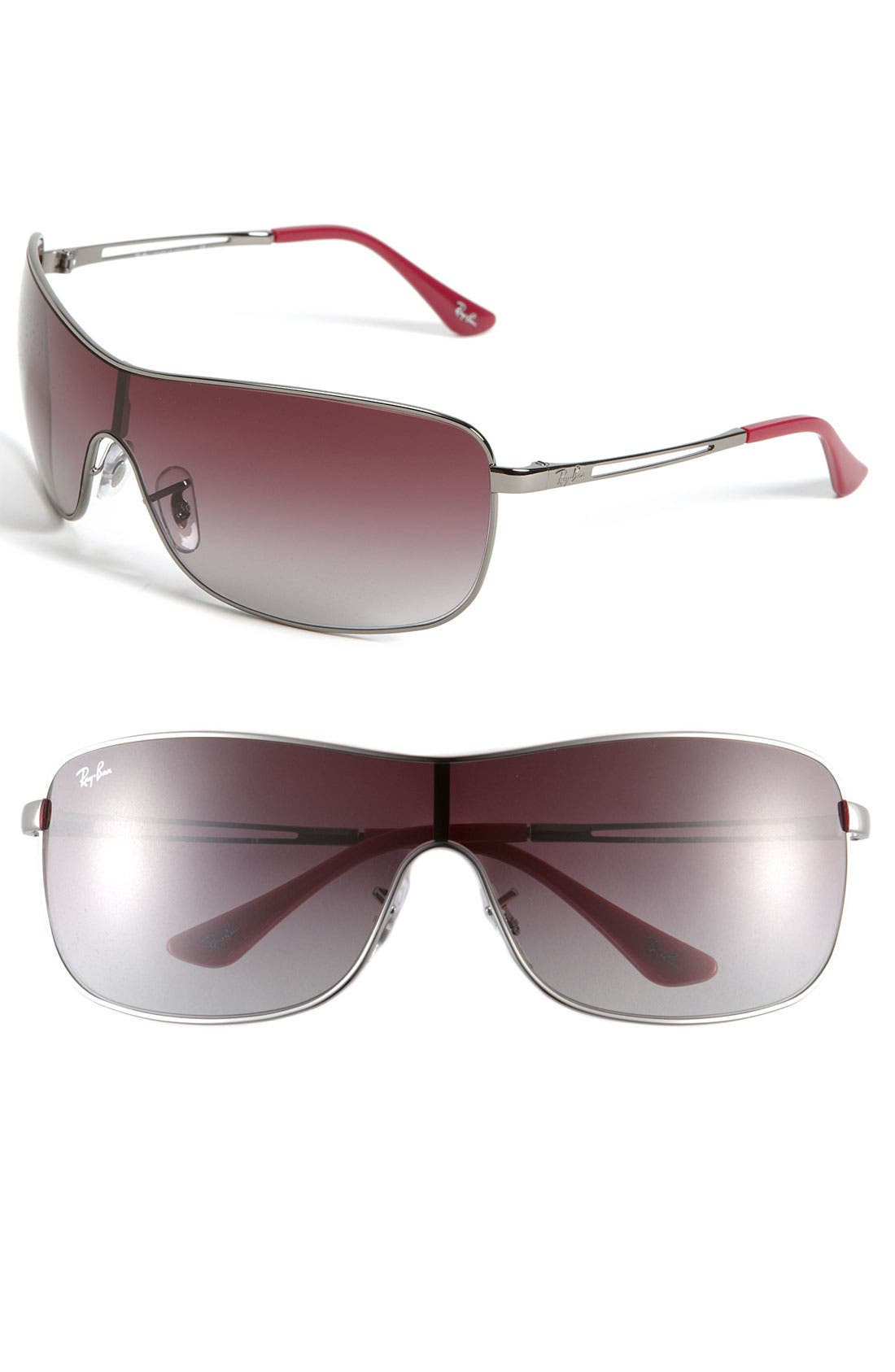 Alternate Image 1 Selected - Ray-Ban 65mm Metal Shield Sunglasses