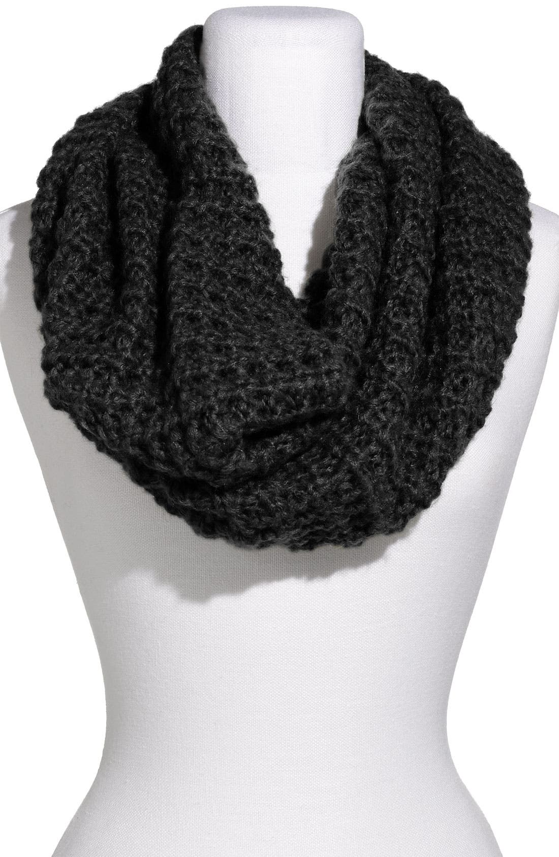 Alternate Image 1 Selected - Frenchi® Waffle Knit Infinity Scarf