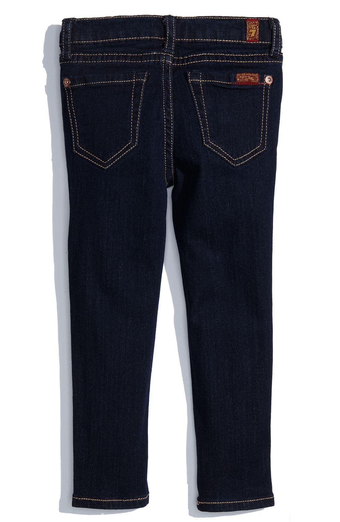 Alternate Image 1 Selected - 7 For All Mankind® Skinny Denim Jeans (Toddler)