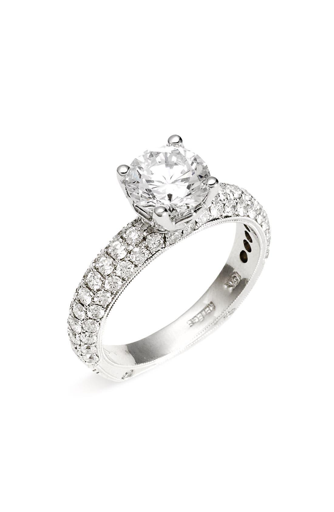 Alternate Image 1 Selected - Jack Kelége 'Romance' Pavé Diamond Engagement Ring Setting