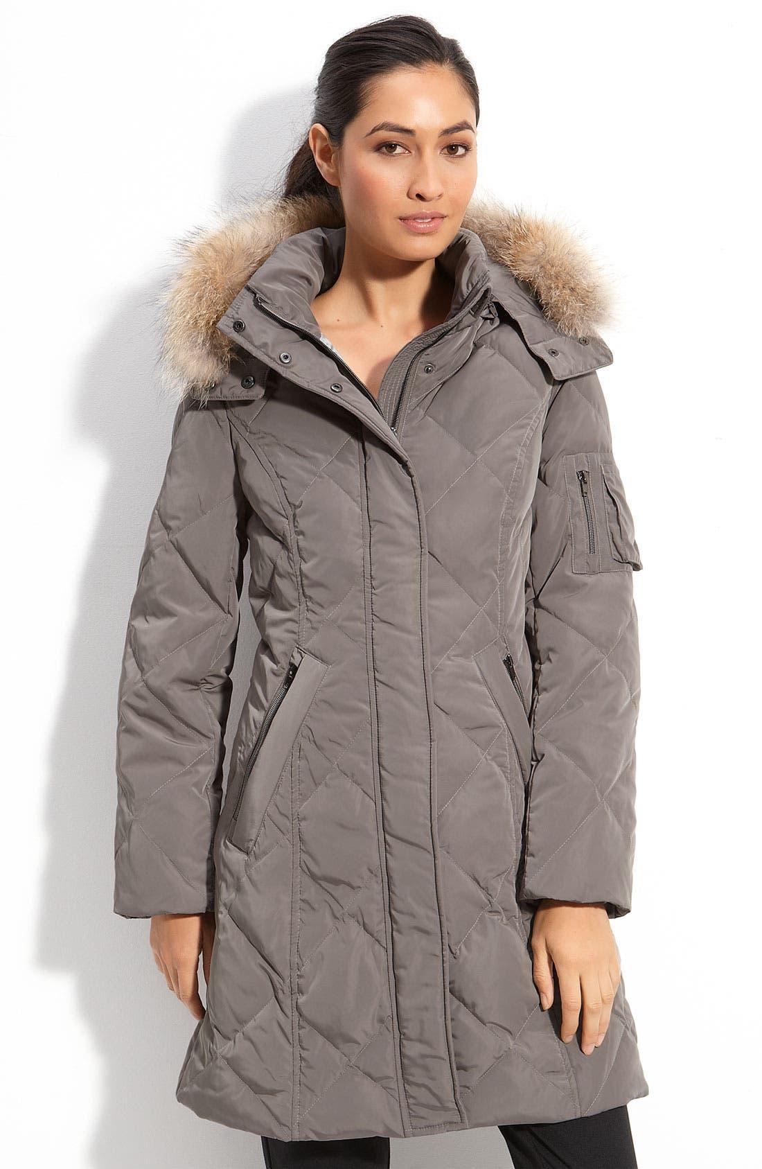 Alternate Image 1 Selected - Sachi Fur Trim Hooded Down Coat