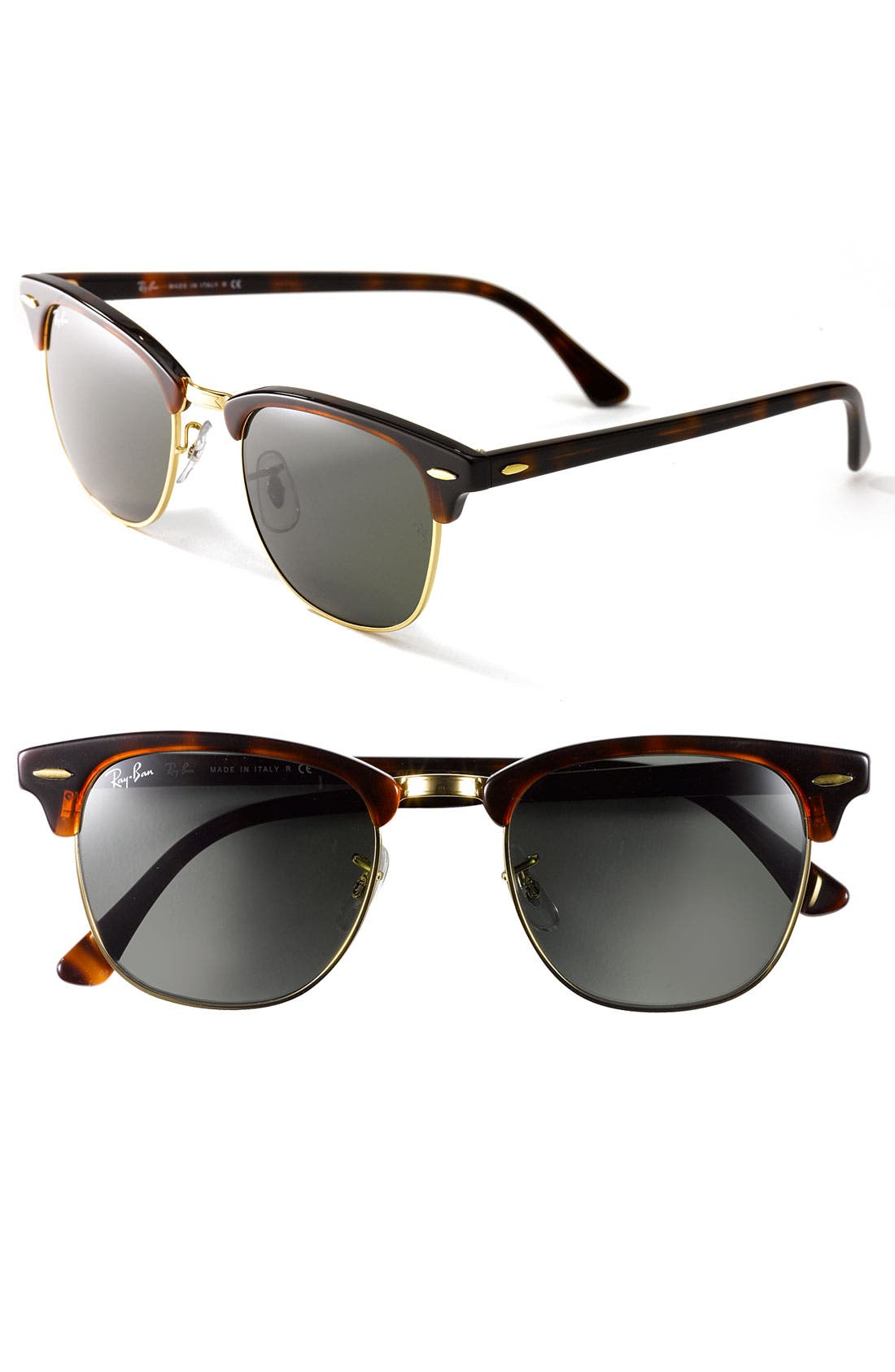Alternate Image 1 Selected - Ray-Ban 'Clubmaster' 49mm Sunglasses