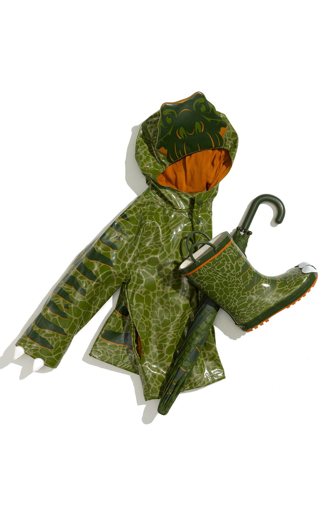 Alternate Image 1 Selected - Western Chief 'Dino' Raincoat, Umbrella & Rain Boot (Toddler & Little Boys)