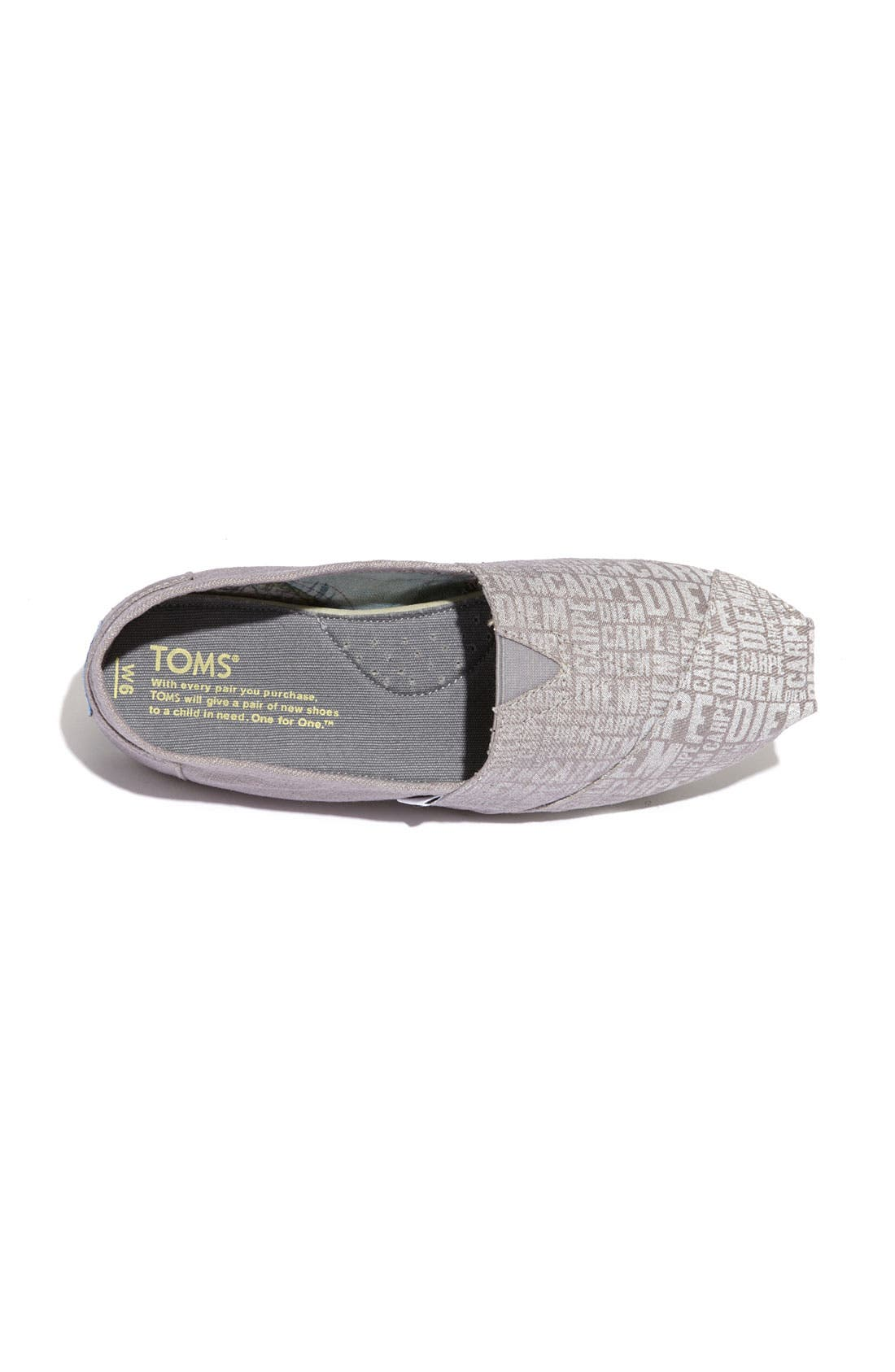 Alternate Image 3  - TOMS 'Classic - Carpe Diem' Canvas Slip-On (Women)