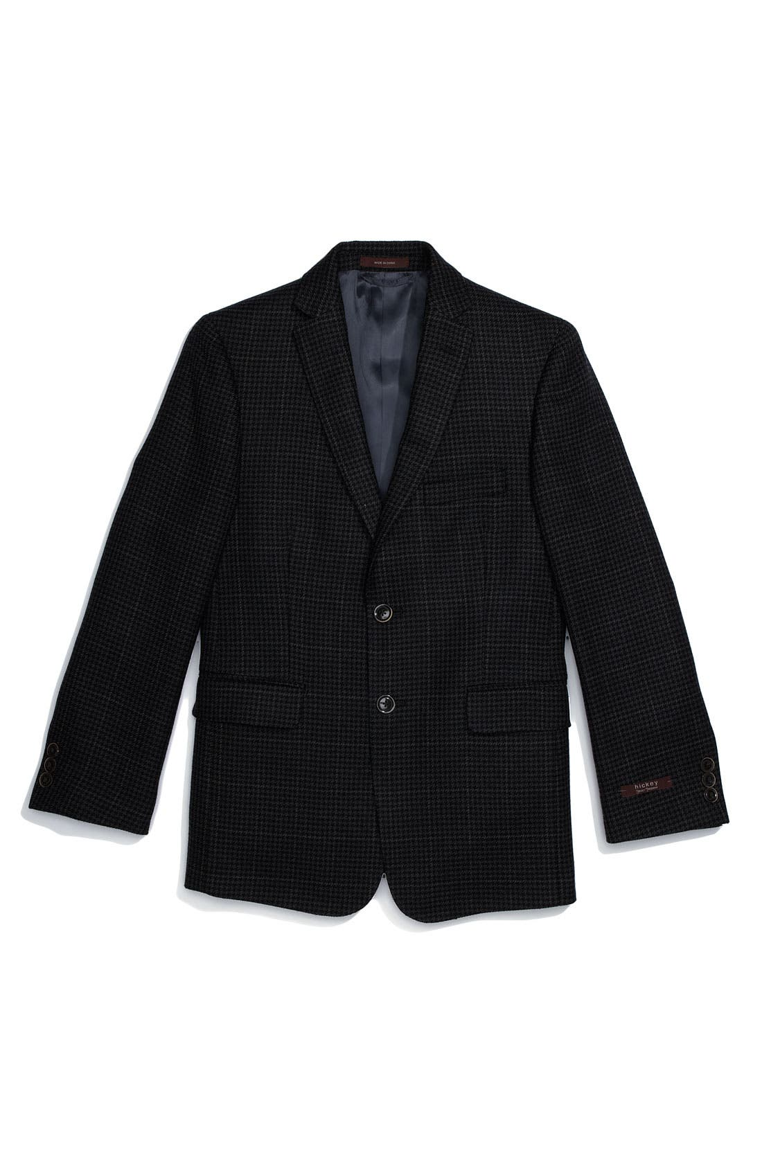 Alternate Image 1 Selected - Hickey Freeman Houndstooth Sport Coat (Big Boys)