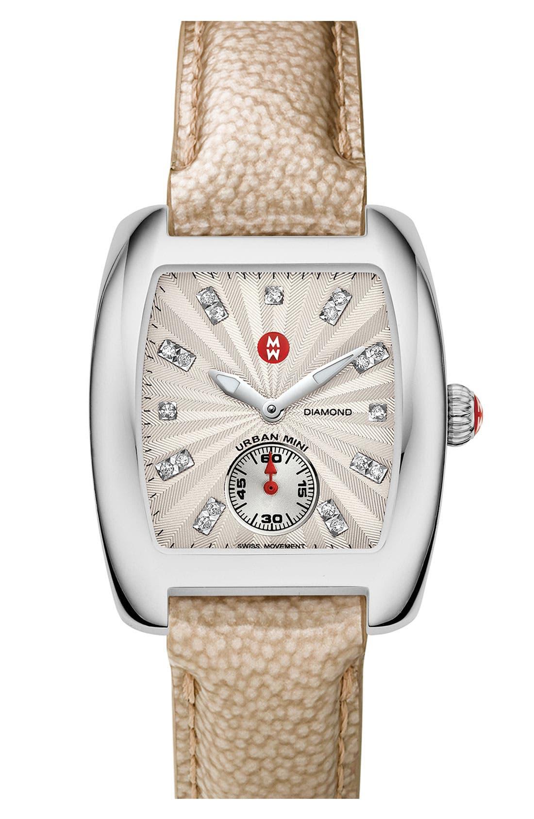 Alternate Image 2  - MICHELE 'Urban Mini Diamond Markers' Customizable Watch