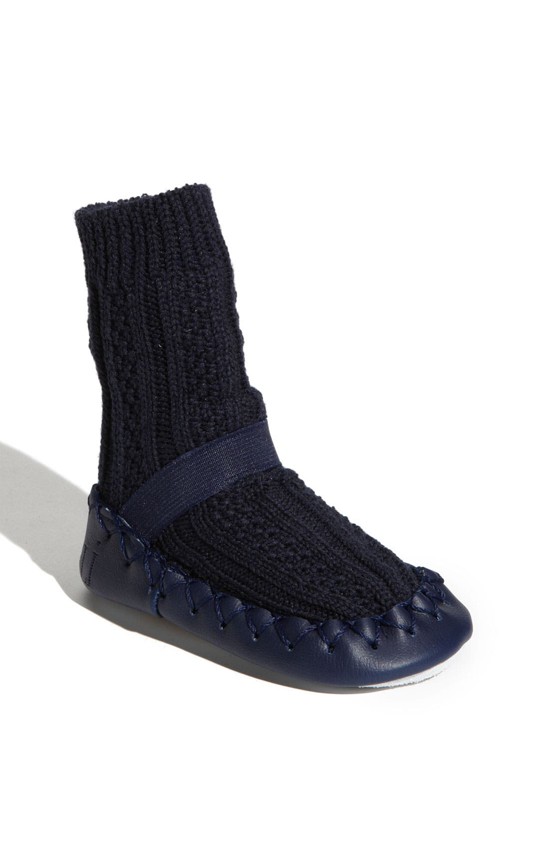 Main Image - Nowali Cable Knit Moccasins (Baby & Walker)