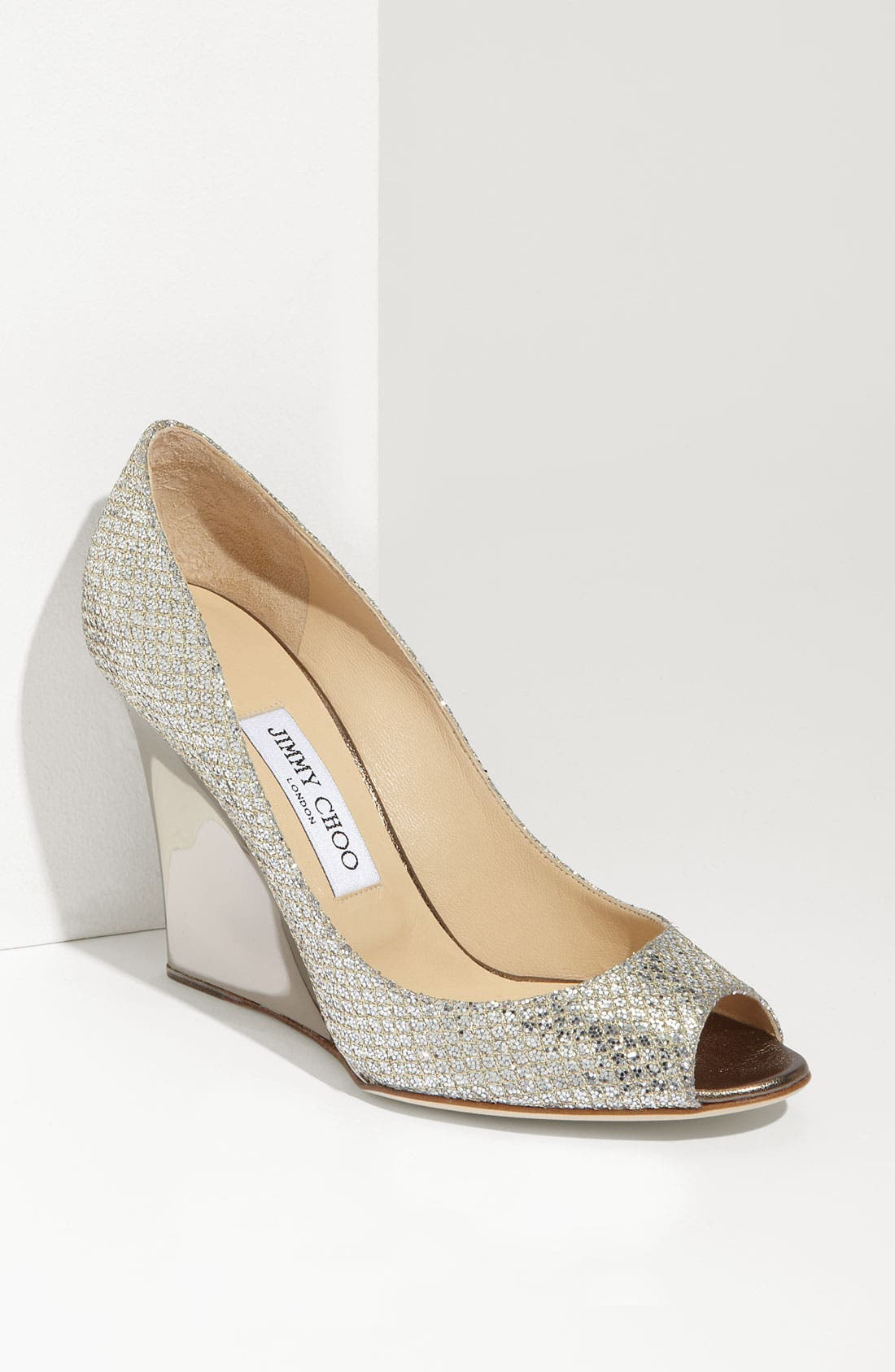 Alternate Image 1 Selected - Jimmy Choo 'Bello' Glitter Wedge
